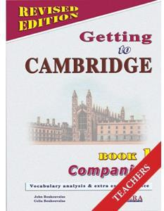 GETTING TO CAMBRIDGE 1 (REVISED) COMPANION TCHR'S