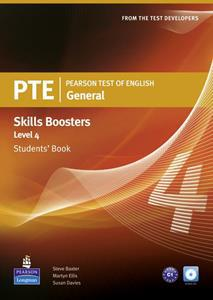 PTE GENERAL SKILLS BOOSTERS 4 ST/BK(+CD)