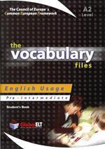 VOCABULARY FILES A2 TCHR'S